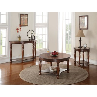 Denni 3 Piece Coffee Table Set Color: Brown