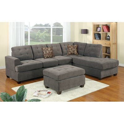 Morgan Sectional Sofa and Ottoman Set