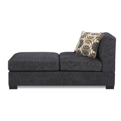 Arroyo Chaise Lounge Upholstery: Ash Black
