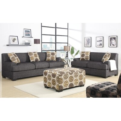 Arroyo 3 Piece Living Room Set Upholstery: Ash Black