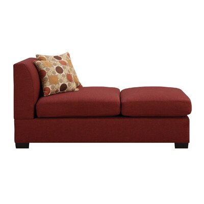 Trampoline Chaise Lounge Upholstery: Dark Red