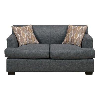 Trampoline Loveseat Upholstery: Gray