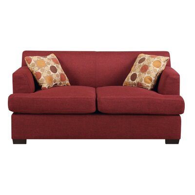 Trampoline Loveseat Upholstery: Dark Red