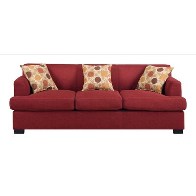 Trampoline Sofa Upholstery: Dark Red
