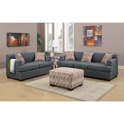 Trampoline Loveseat and Sofa Set with Ottoman
