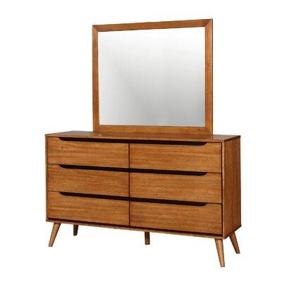 Lennart 6 Drawer Dresser Finish: Oak