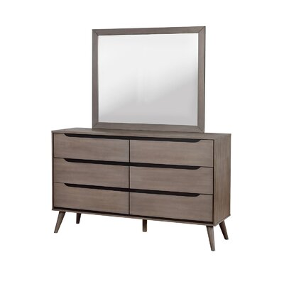 Lennart 6 Drawer Double Dresser Color: Gray