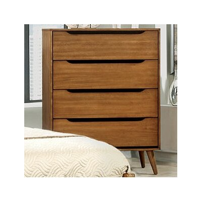 Lennart 4 Drawer Chest Color: Oak
