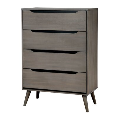 Lennart 4 Drawer Chest Finish: Gray