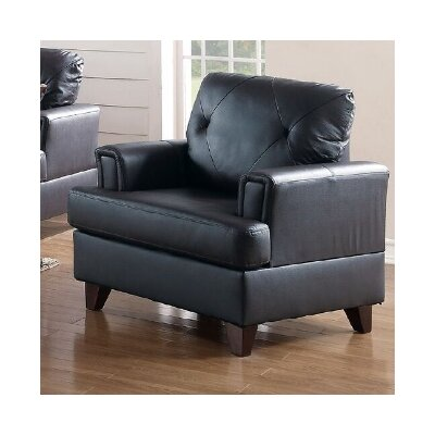 Bethany Armchair Upholstery: Black