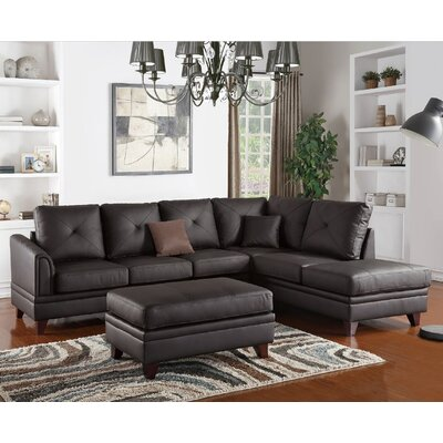 Danby Reversible Sectional Upholstery: Brown