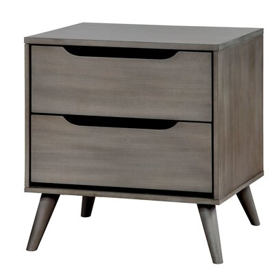 Lennart 2 Drawer Nightstand Finish: Gray