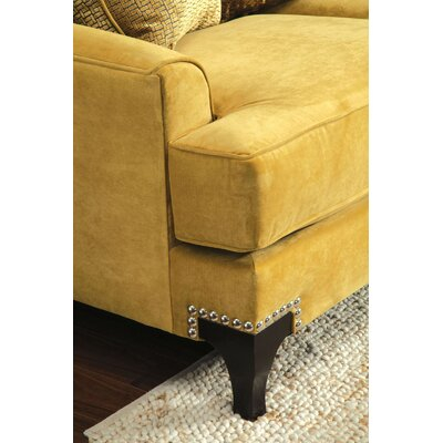 Viscontti Club Chair Color: Gold