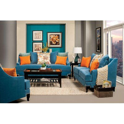 Viscontti Sofa Upholstery: Peacock blue
