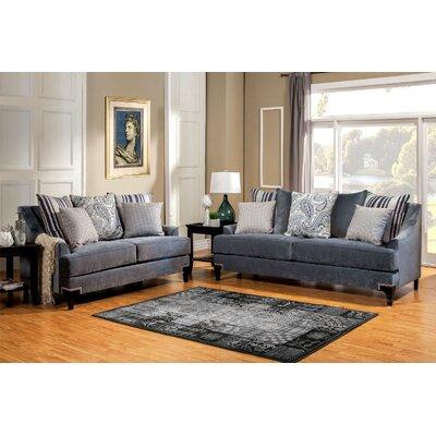 Viscontti Sofa Upholstery: Slate blue