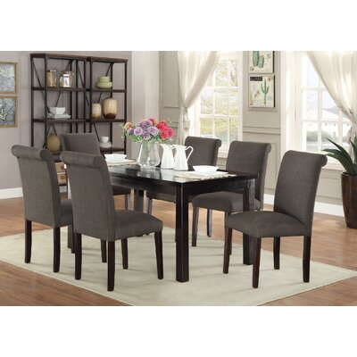 Consumnes 7 Piece Dining Set Finish: Ash Black
