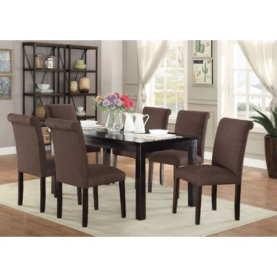 Consumnes 7 Piece Dining Set Finish: Chocolate