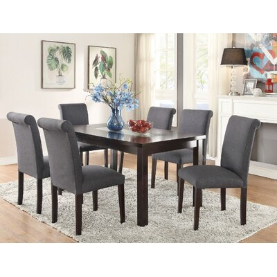 Consumnes 7 Piece Dining Set Finish: Blue/Gray