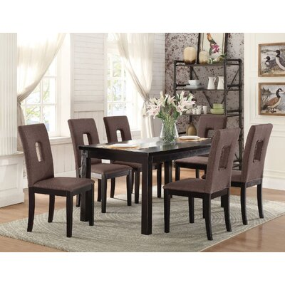 Arbor 7 Piece Dining Set Finish: Chocolate