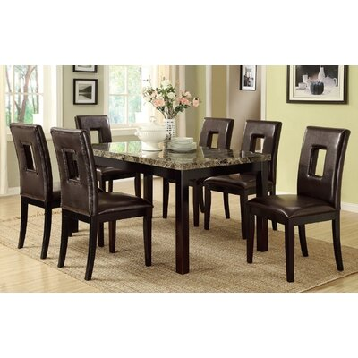 Leche 7 Piece Dining Set Finish: Dark Brown