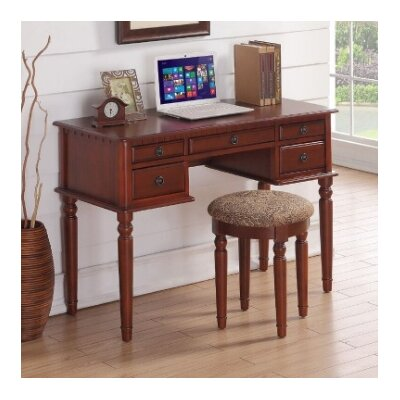 Salinas Writing Desk and Stool Set Finish: Cherry