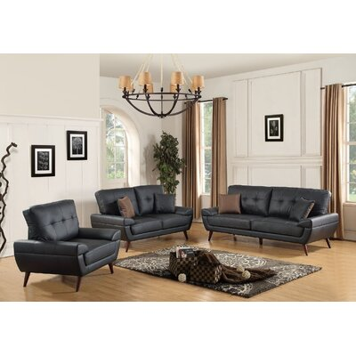 Skylake 3 Piece Leather Living Room Set