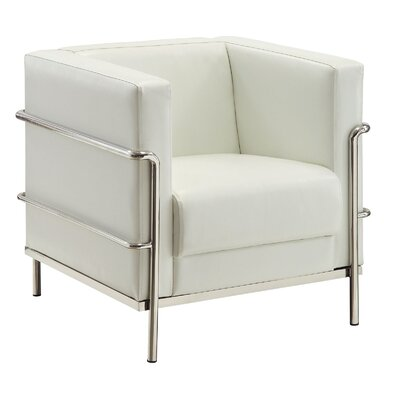 Leifur Arm Chair Upholstery: White