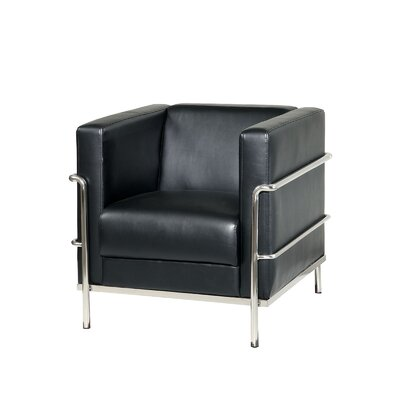 Leifur Arm Chair Upholstery: Black
