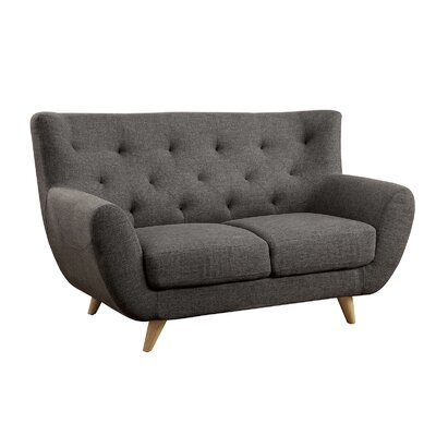 Carin Loveseat Upholstery: Gray