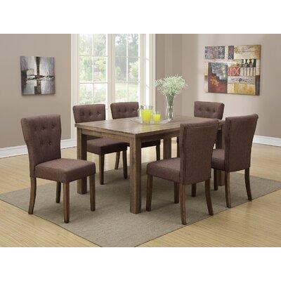 Apricot 7 Piece Dining Set Upholstery Color: Slate