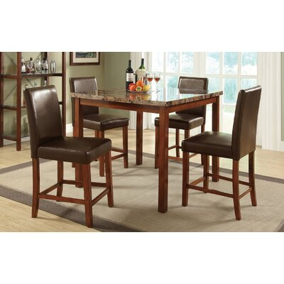 Minnie 5 Piece Counter Height Dining Set