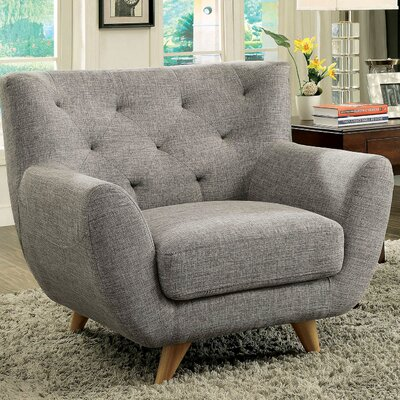 Carin Armchair Upholstery: Light Gray