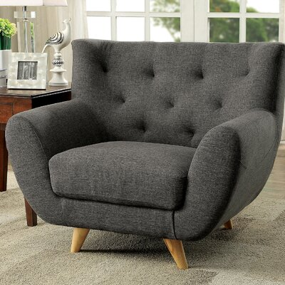 Carin Arm Chair Upholstery: Gray