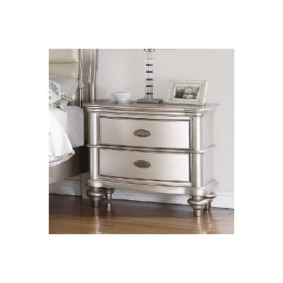 Hawes 2 Drawer Nightstand