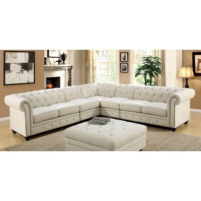 Stanfordo Sectional Upholstery: Ivory