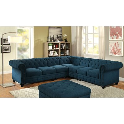 Stanfordo Sectional Upholstery: Dark teal