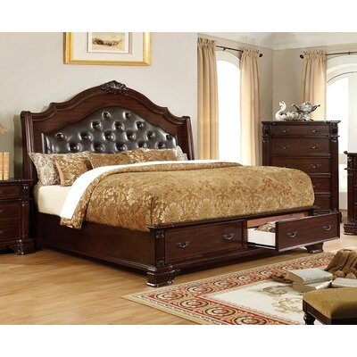 Edinburgh Upholstered Storage Panel Bed Size: California King