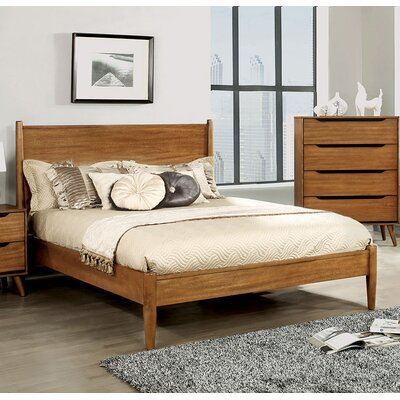Lennart Platform Bed Size: Queen, Color: Oak