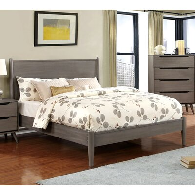 Lennart Platform Bed Size: King, Color: Gray