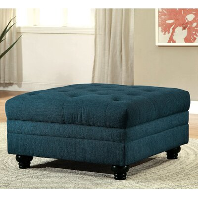 Stanfordo Cocktail Ottoman Upholstery: Dark teal
