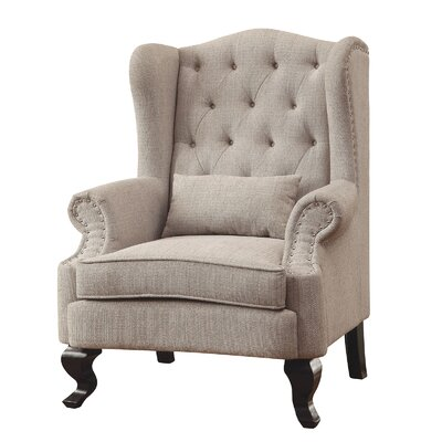 Willow Wingback Chair Upholstery: Light Gray