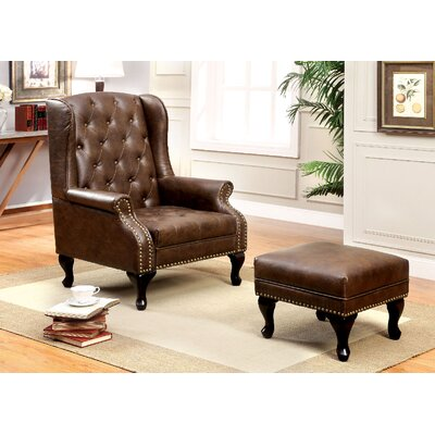 Vaugh Wingback Chair and Ottoman