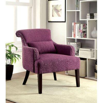 Agalva Armchair Upholstery: Purple