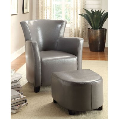 Half Moon Bay Barrel Chair and Ottoman Upholstery: Gray