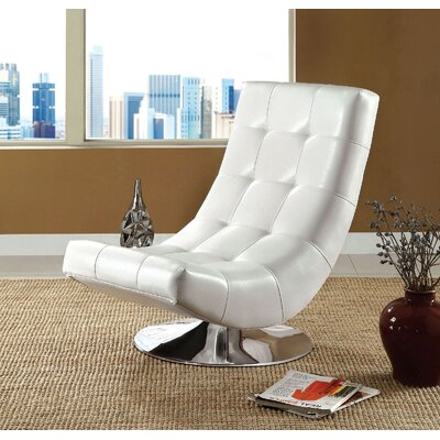 Sowards Swivel Lounge Chair Upholstery: White