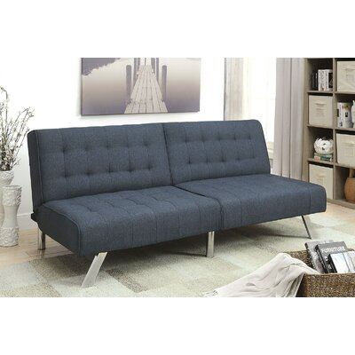 Perucca Convertible Sofa Upholstery: Dark Blue