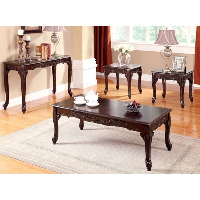Wilford 3 Piece Coffee Table Set Finish: Brown