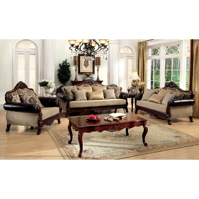 Romo 3 Piece Living Room Set
