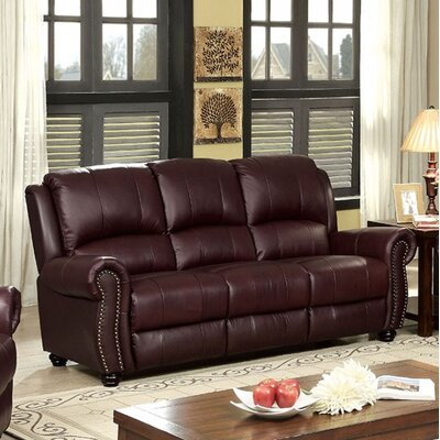 Turton Sofa Upholstery: Burgundy