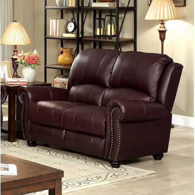 Turton Loveseat Upholstery: Burgundy